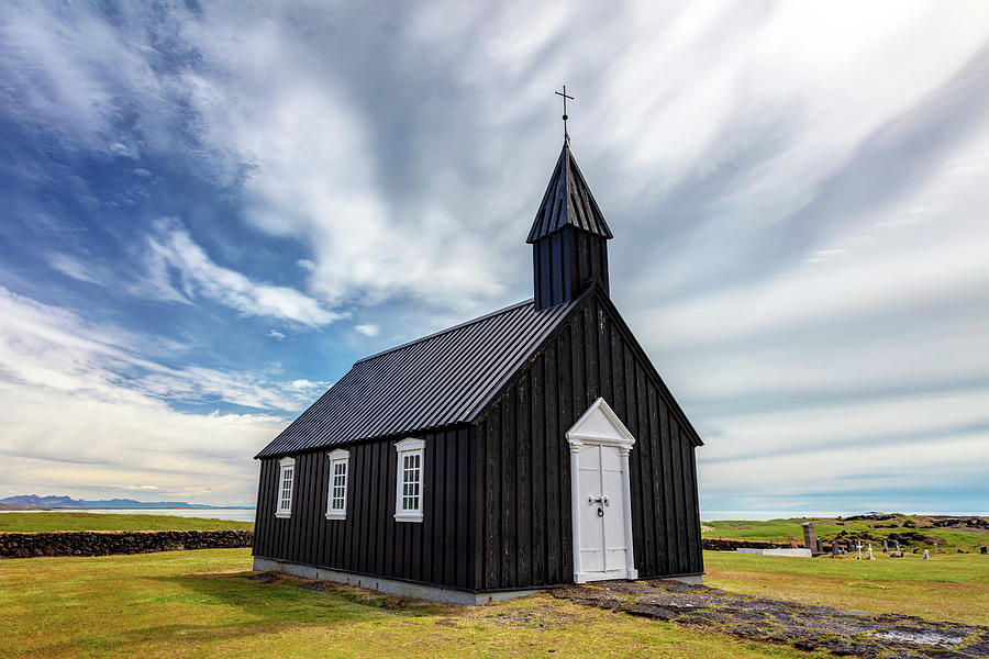 Buoakirkja Black Church Iceland by Pierre Leclerc Photography