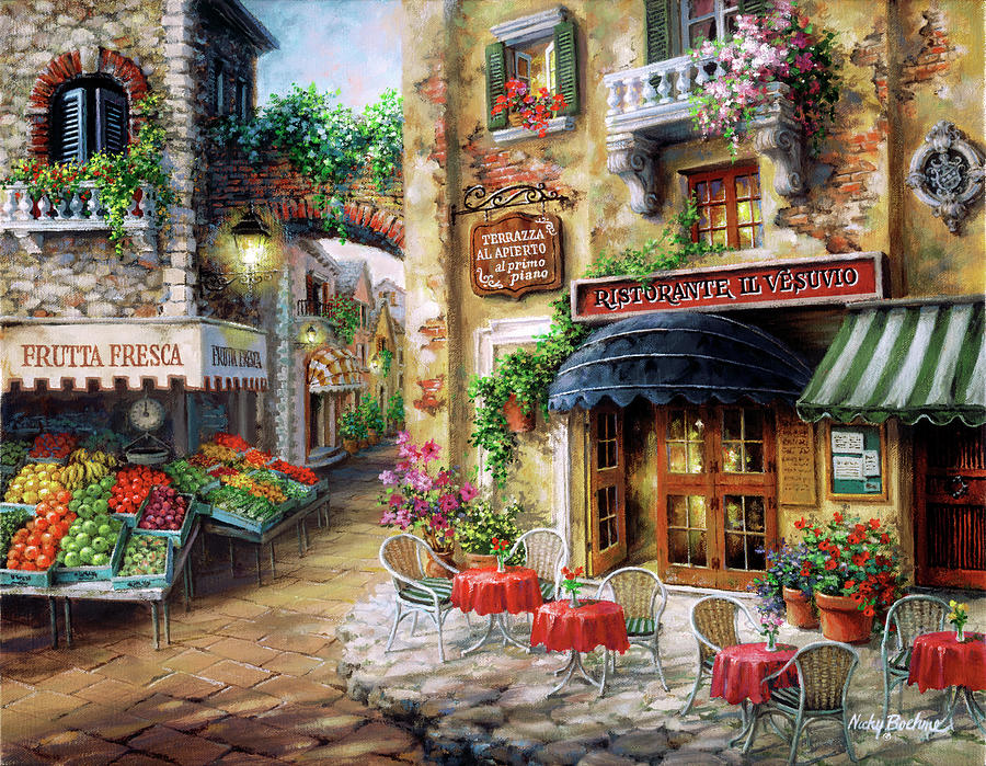 Cafe Painting - Buon Appetito by Nicky Boehme