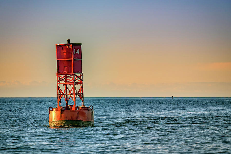 Buoy on Casco Bay by Rick Berk