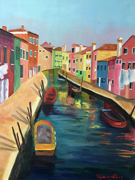 Burano, Italy by Maureen Obey