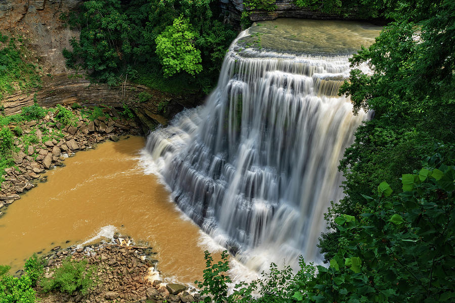 Burgess Falls State Park In Sparta Tennessee by Jim Vallee