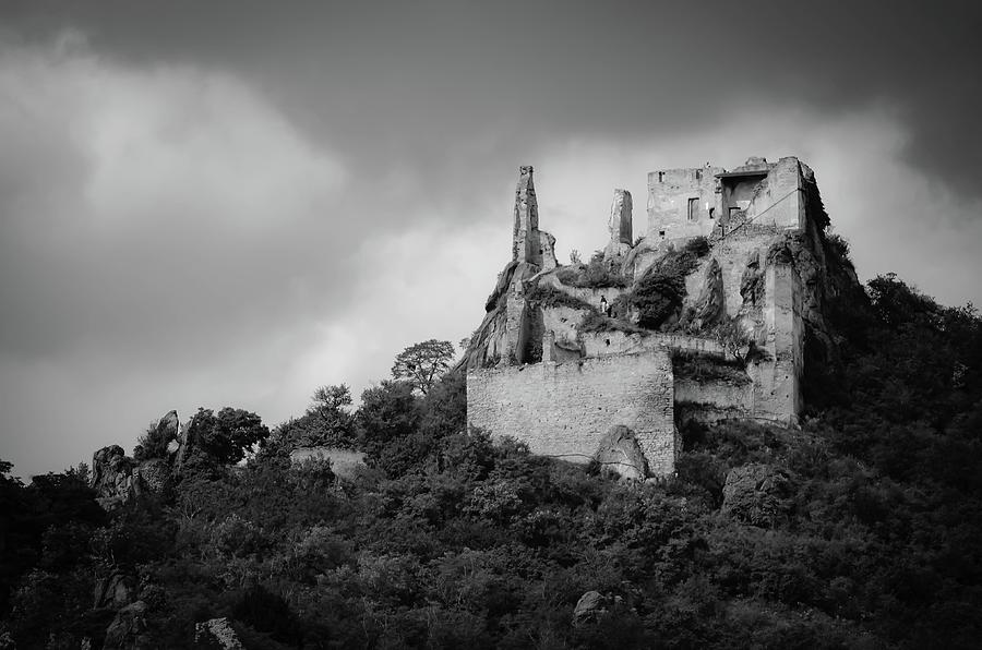 Medieval Photograph - Burgruine Durnstein by Borja Robles