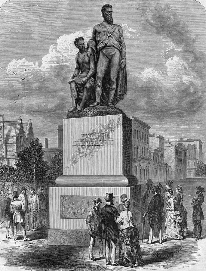 Burke And Wills Statue Photograph by Hulton Archive