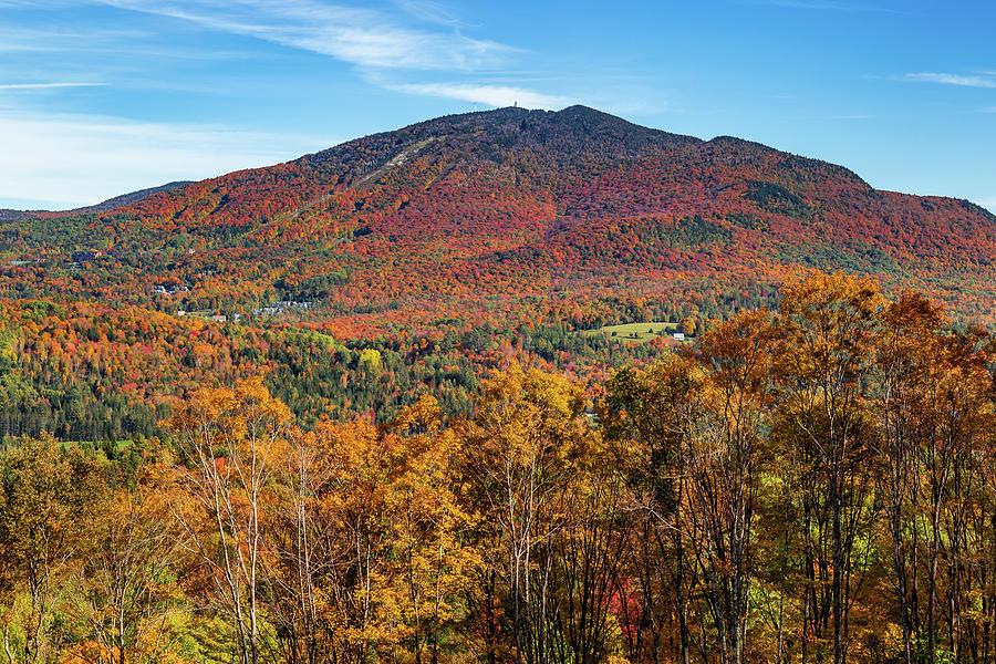 Burke Mountain Peak Foliage by Tim Kirchoff