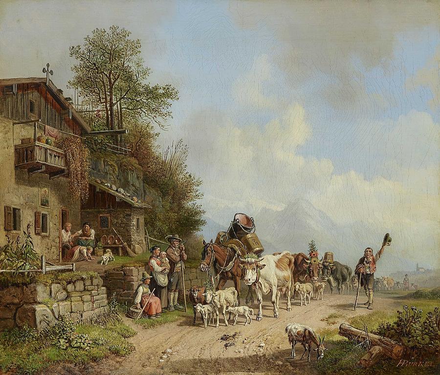 Burkel, Heinrich 1802 Pirmasens - 1869 Munich Mountain Inn Painting
