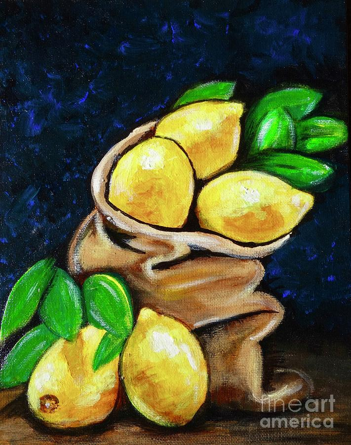 Burlap Bag of Lemons by Jacqueline Athmann