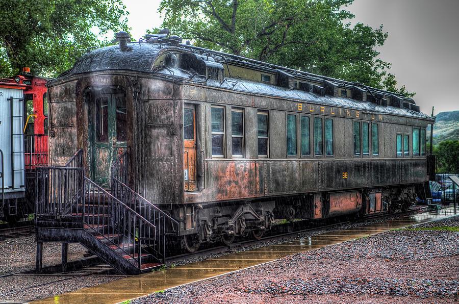 Railroad Photograph - Burlington Passenger Car by G Wigler