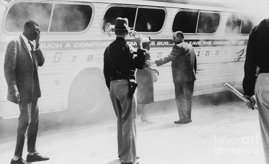 Burning Bus After Attack Photograph by Bettmann