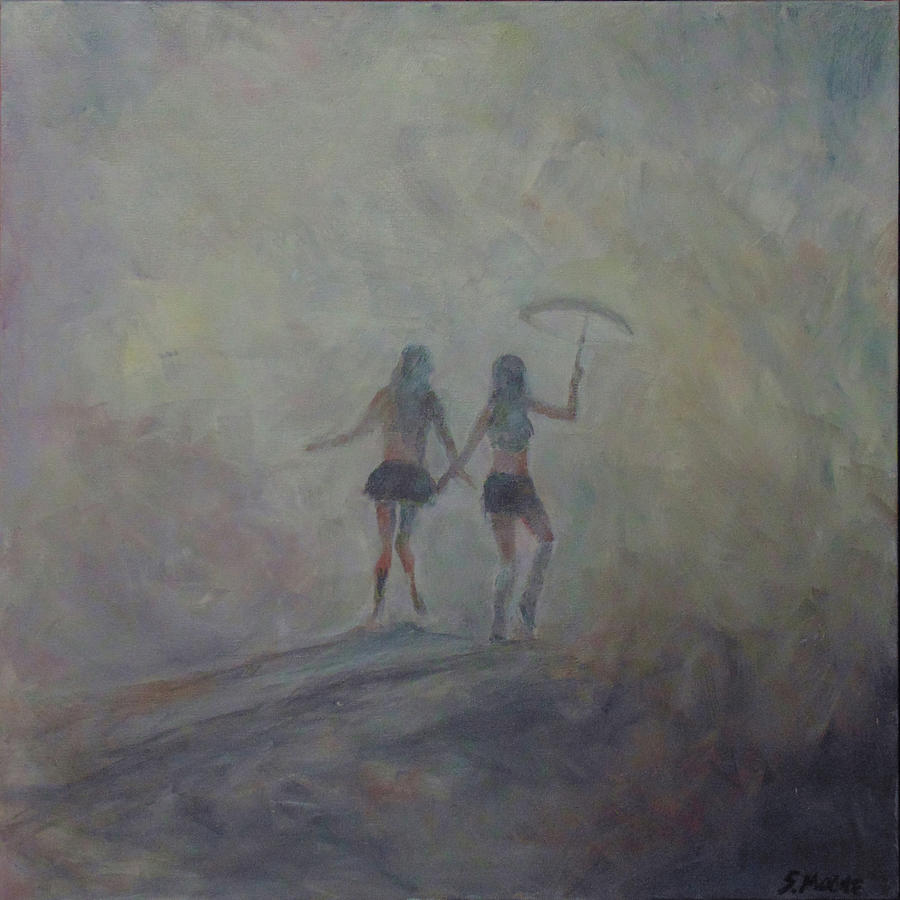 Figurative Painting - Burning Girls by Susan Moore