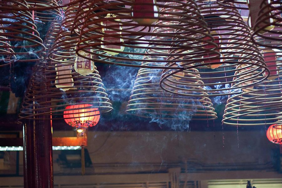 Burning Incense Coils, Hong Kong Photograph by Oscar Tarneberg