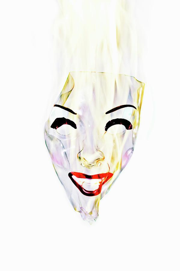 Burning Mask Of Woman Photograph by Yusuke Murata