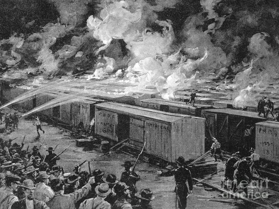 Burning Of 600 Freight Cars On Panhandle Photograph by Bettmann