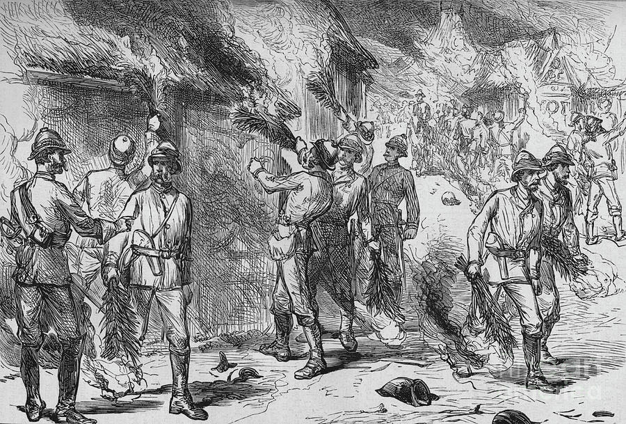 Burning Of Coomassie Drawing by Print Collector