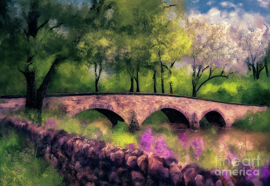 Burnside Bridge In Spring by Lois Bryan
