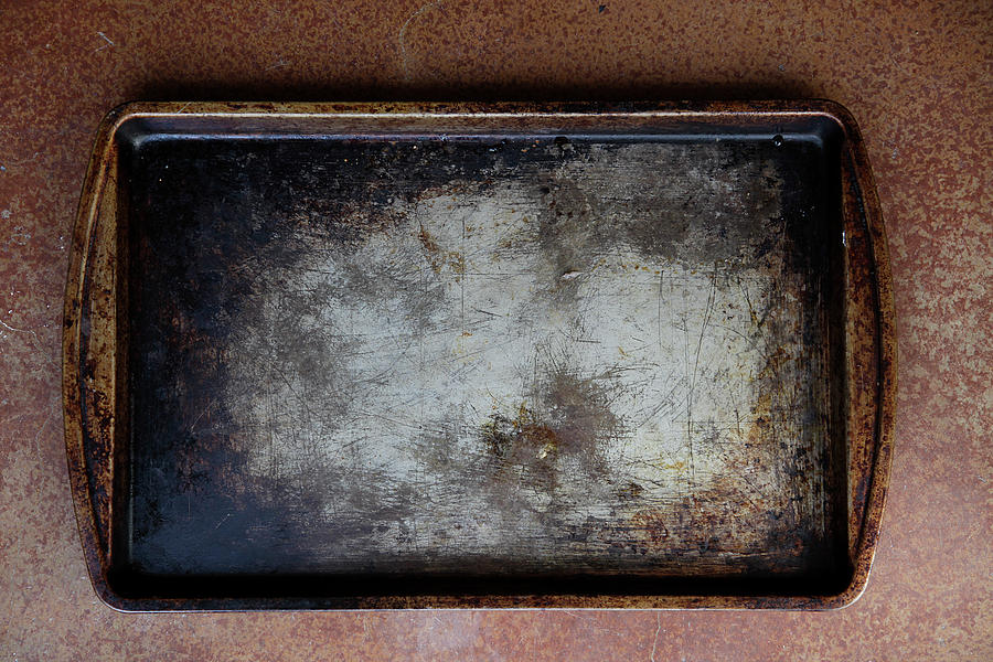 Burnt Cookie Sheet Ro Baking Tray Photograph by Elisa Cicinelli