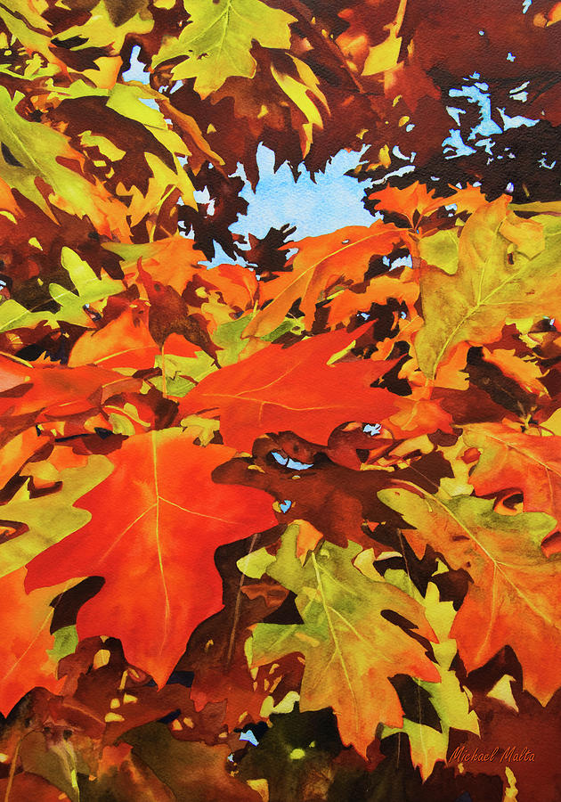 Burst Of Autumn Painting