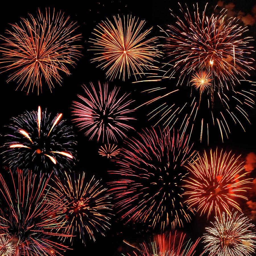Bursts Of Fireworks Photograph by © 2011 Dorann Weber