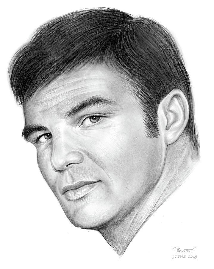 Burt Reynolds Drawing - Burt by Greg Joens