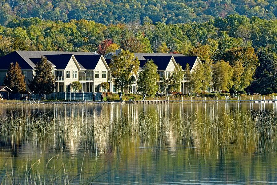Burt Lake Reflections by John Bates