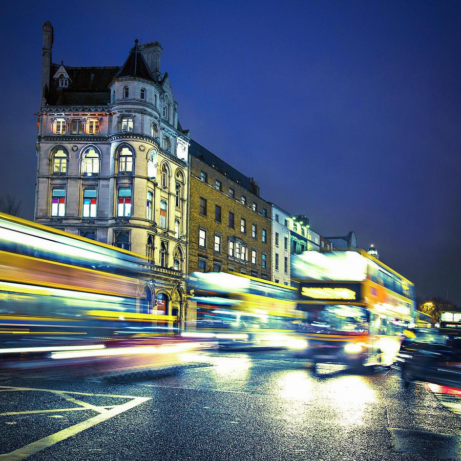 Buses In Dublin Photograph by Xavierarnau