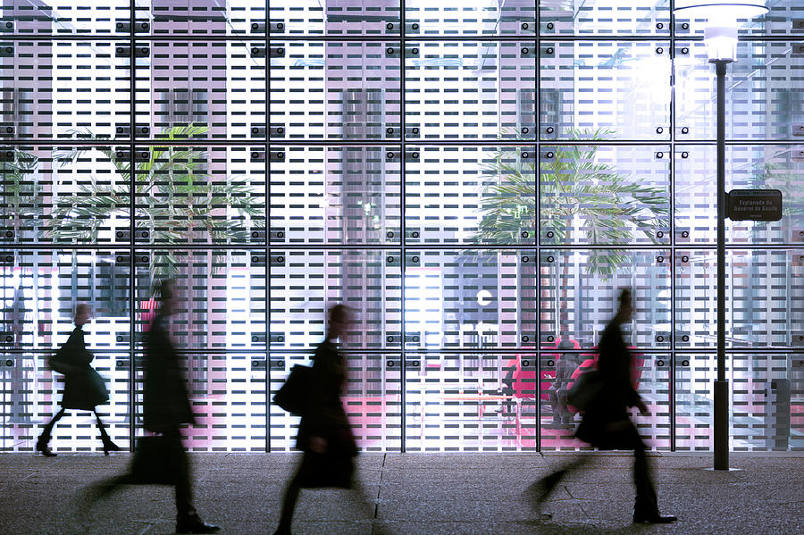 Business People Passing Modern Office Photograph by Eschcollection
