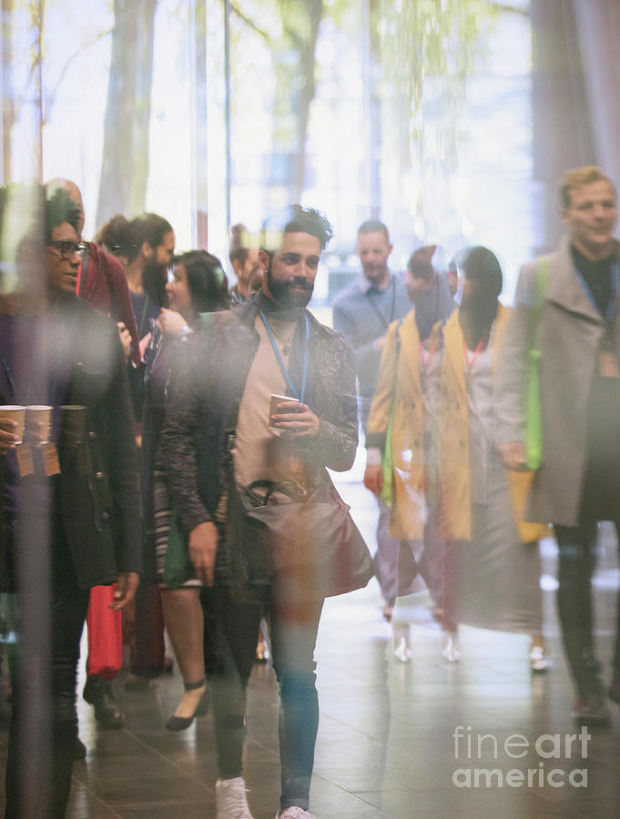 African Photograph - Business People Walking In Office Lobby by Caia Image/science Photo Library