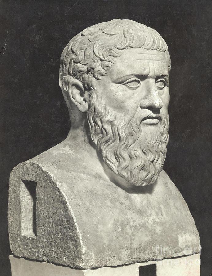 Bust Of Grecian Philosopher Plato Photograph by Bettmann