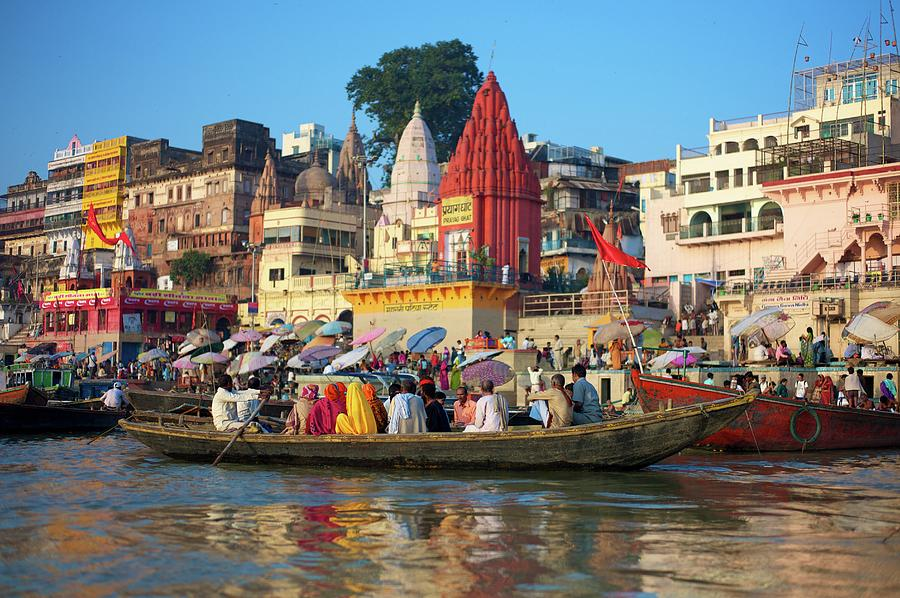 Busy Preparation On Ganges Photograph by Dominik Eckelt