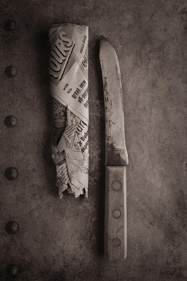 Butcher Knife and Sheath by Tom Mc Nemar