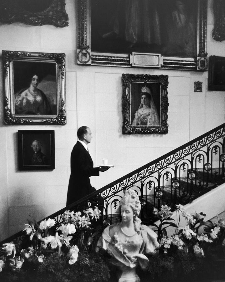 Butler At Hillwood Estate Photograph by Alfred Eisenstaedt