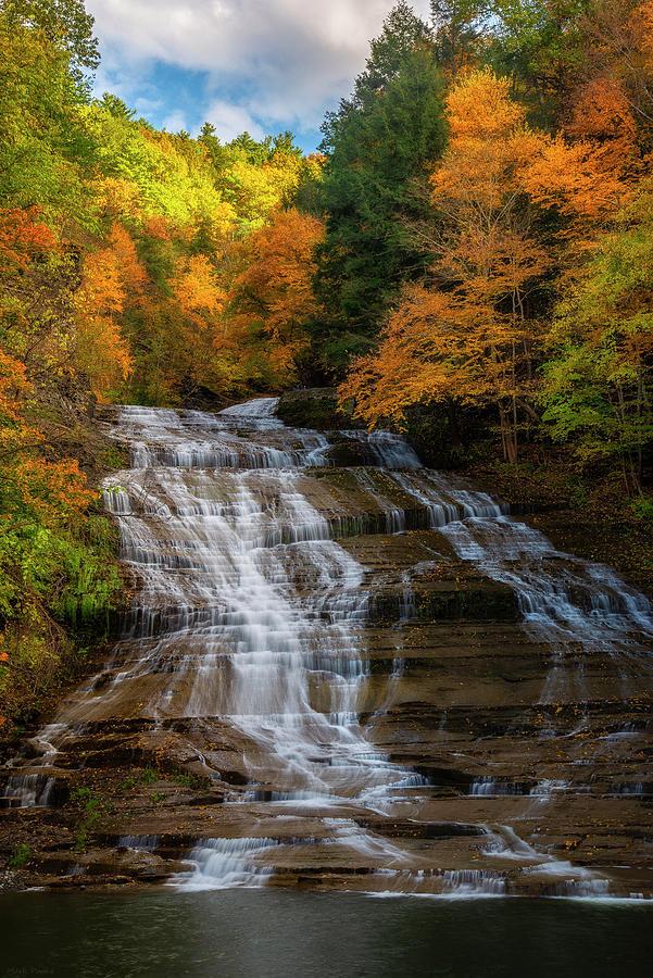Buttemilk Falls in Fall by Mark Papke