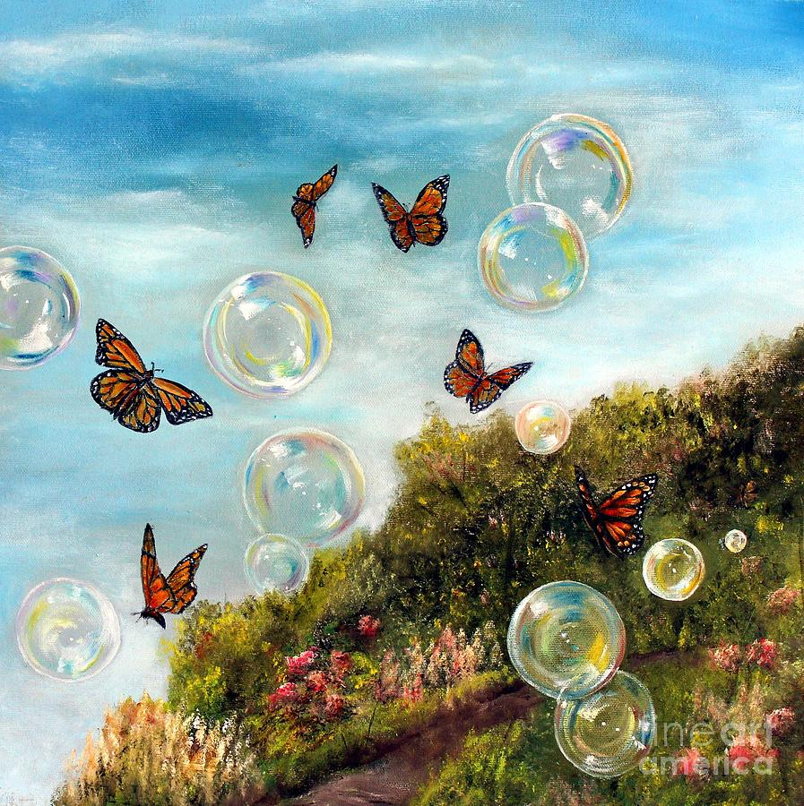 BUTTERFLIES AND BUBBLES by Anna-maria Dickinson