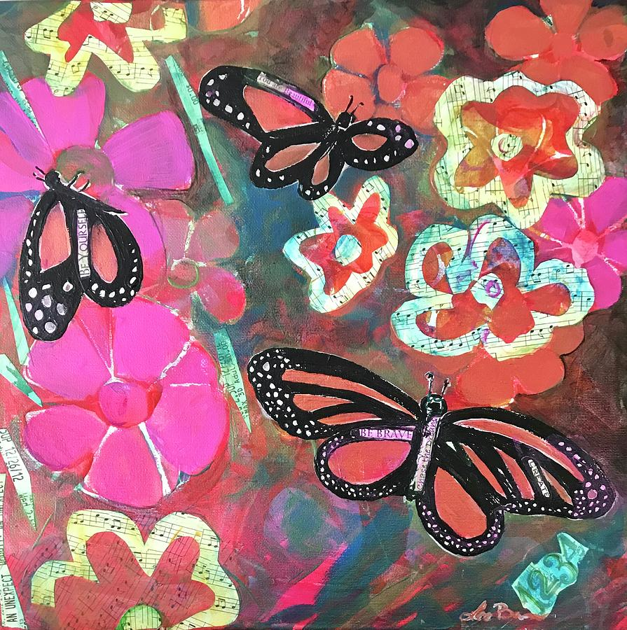 Monarch Mixed Media - Butterflies are Free to Fly by Lee Bauman