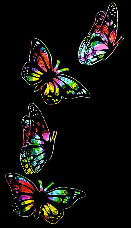 Butterflies In Flight by Kingsley Krafts