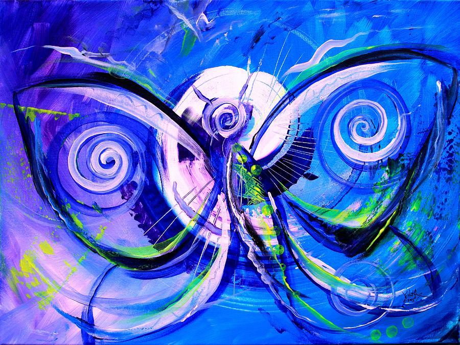 Butterfly Blue Violet by J Vincent Scarpace