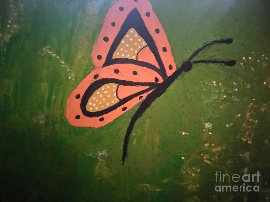 Butterfly in flight by Joyce A Rogers