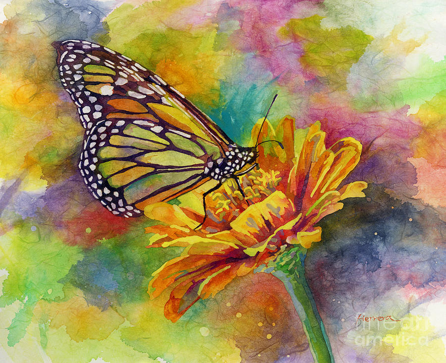 Butterfly Painting - Butterfly Kiss by Hailey E Herrera