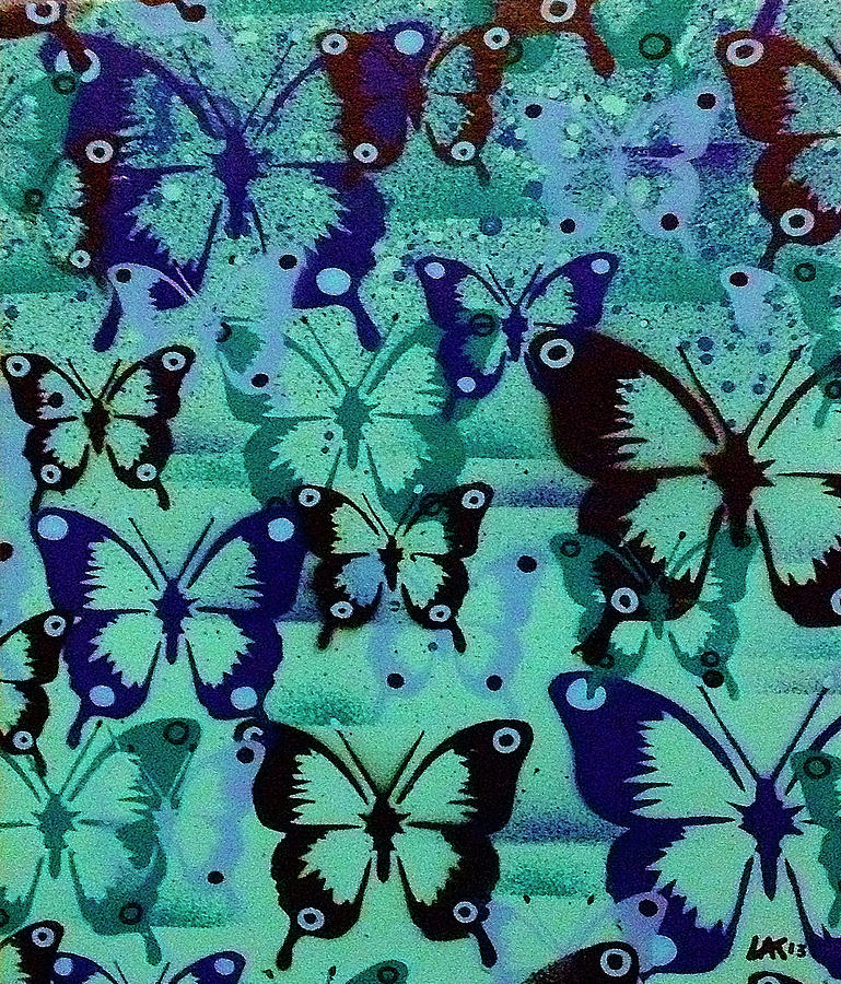 Animals Mixed Media - Butterfly Patterns by Abstract Graffiti