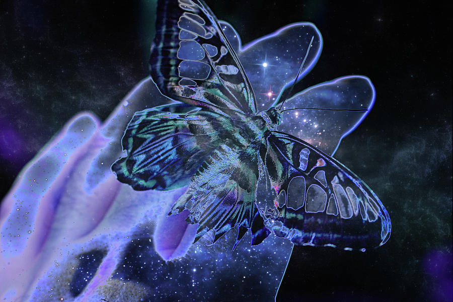 Butterfly Digital Art - Butter Space Nebulizer by Pat Pro