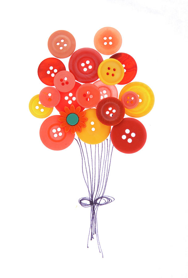 Buttons As Balloons Photograph by Lisa Stokes