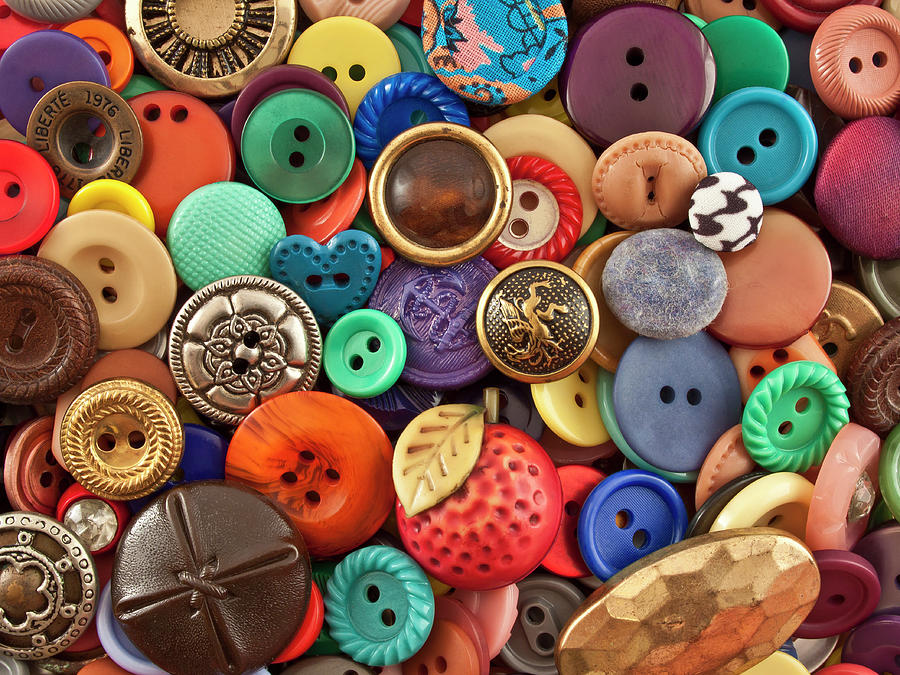 Buttons Photograph by Jeff Suhanick