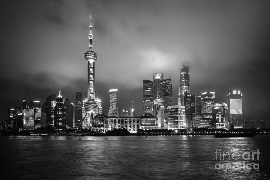 BW Skyline in Shanghai by Steven Liveoak