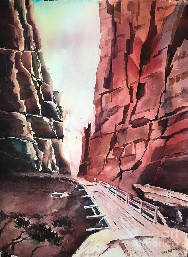 By the Canyon  by George Jacob