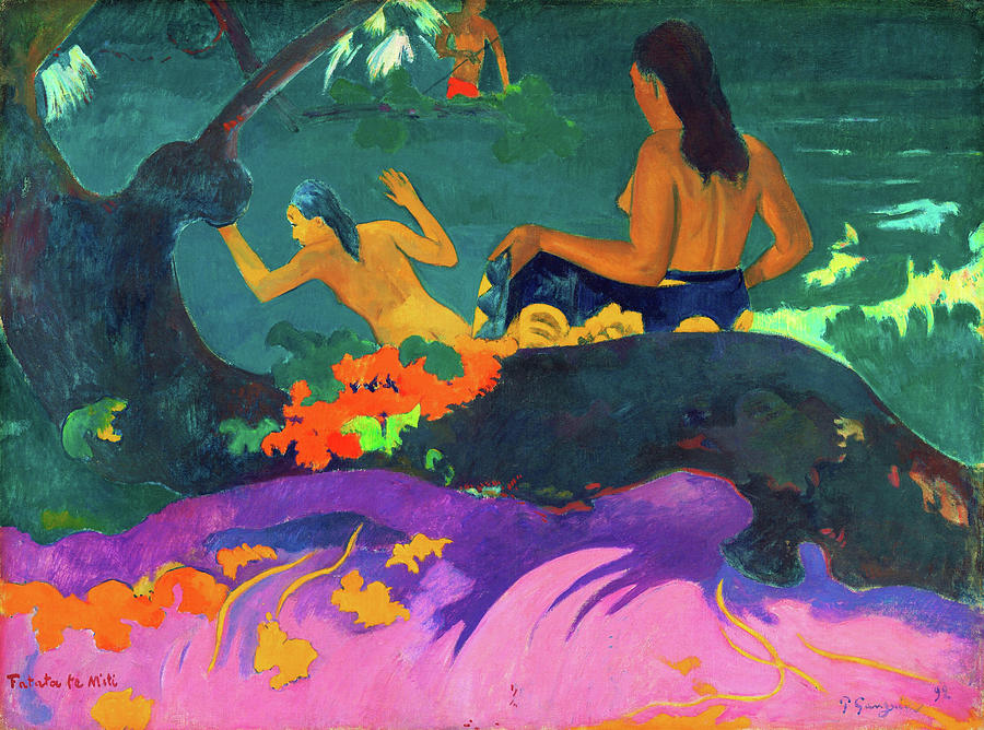 Paul Gauguin Painting - By The Sea - Digital Remastered Edition by Paul Gauguin