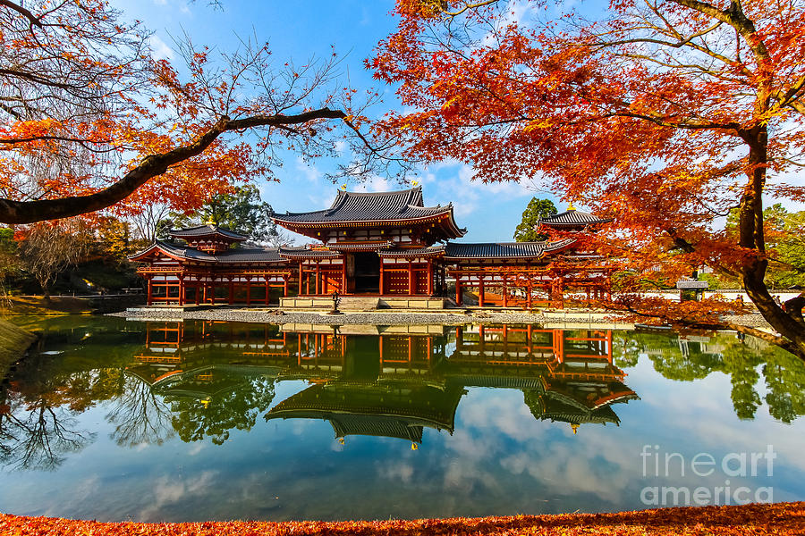 Religious Photograph - Byodo-in Temple. Kyoto,buddhist Temple by Somsak Nitimongkolchai