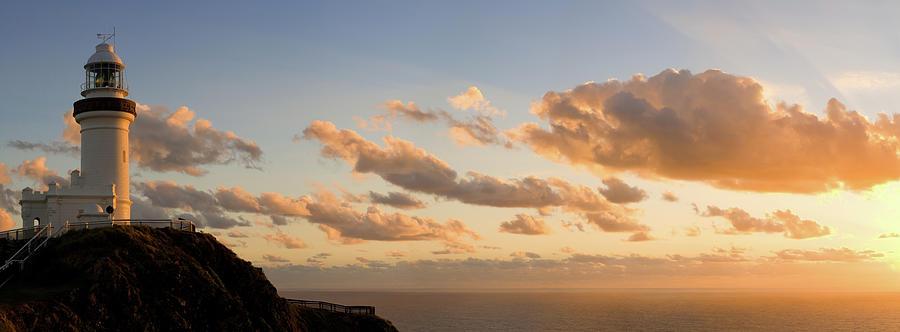 Byron Bay Lighthouse Vanilla Sunrise Photograph by Turnervisual