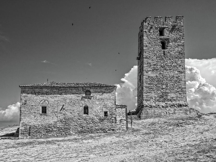 Byzantine  Church and Tower by Roy Pedersen