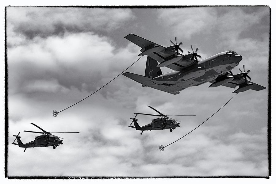 C-130 Refuelling Blackhawks by Chris Smith