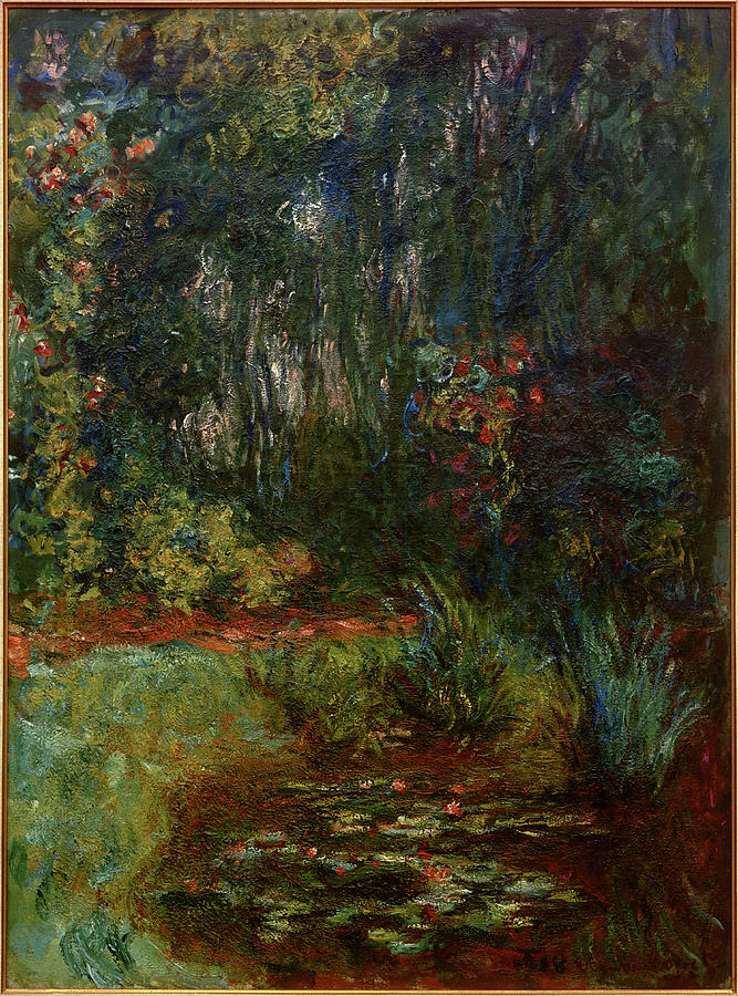 C. Monet, Corner Of The Water Lily Painting by AKG Images