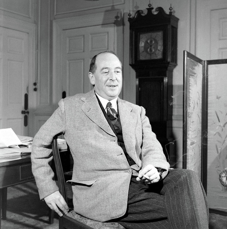 C. S. Lewis In His Study In Oxford Photograph by Hans Wild